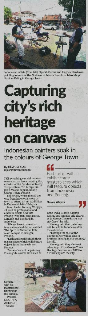 12 Julai 2019 Capturing citys rich heritage on canvas The Star Events Pg 7