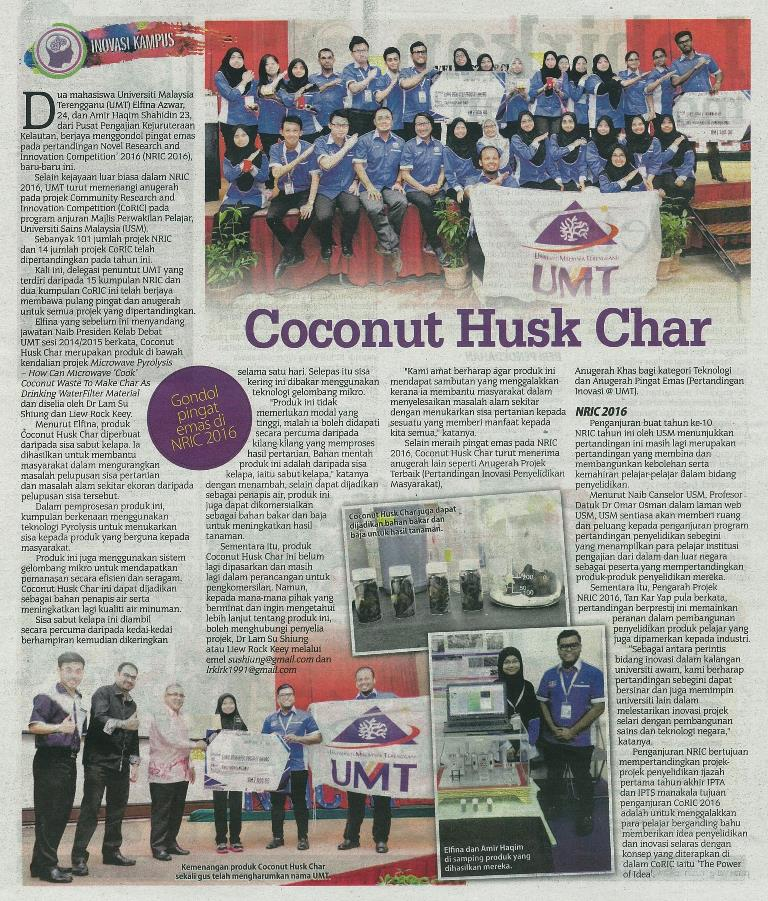 21 September 2016 Coconut Husk Char S.Harian